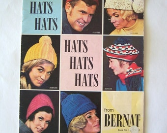 Vintage Bernat Book 165 Hats Knitting Patterns