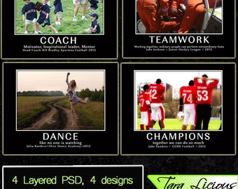 Instant Download Professional Sports Templates Photoshop Team Instant Download PSD Inspirational TaraLicious JB