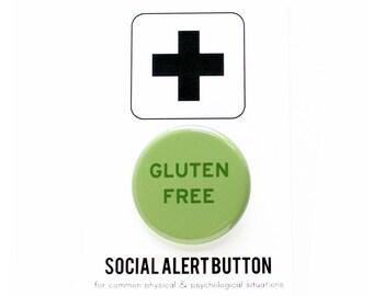 GLUTEN FREE Button -  Health, Special Diet, No Wheat free