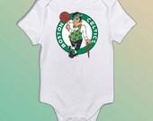 Boston Celtics themed bodysuit or tee