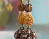 Victorian Marcasite Button Earrings