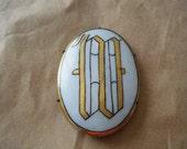 Monogram Brooch W Porcelain