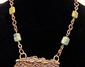 SALE On Sale The Collection 1 Bronze and Copper Clay One of a Kind Handmade Necklace