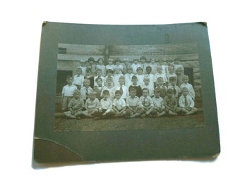 The Hauntingly Sad Faces of the Orphanage.  1920s Vintage Silver Gelatin Photograph. Children.