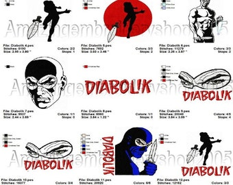 INSTANT DOWNLOAD - Diabolik - embroidery designs