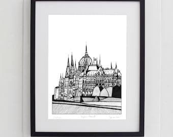 Hungarian Parliament, Budapest Print