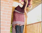 Skirt - Steampunk - Gypsy Fairy - Bohemian - Burning Man - Tribal Overskirt - Shabby Chic - Ruffle - Victorian - Boho - Size Medium