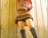 Skirt - Short Overskirt - Burning Man - Steampunk - Playa Wear - Sexy - Festival Clothing - Bohemian Gypsy - Summer - Size Medium