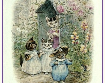 vintage beatrix potter nursery rhyme illustration tom kitten DIGITAL DOWNL0AD