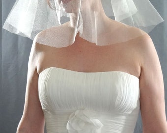Wedding Veil, English Silk Tulle Veil, Silk Bridal Veil, Ivory Veil, Fingertip Veil, Silk Long Veil