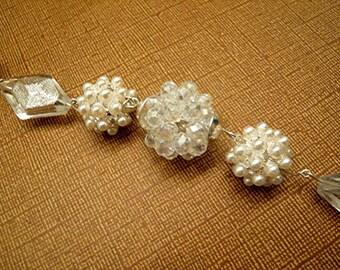 Crystal Pearl Foil Beaded High Fashion Wedding  Bracelet