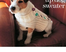 Instant Download Row by Row Knitting Pattern to make Pet Fashion Knitted Dog or Puppy Coat or Sweater Chest 41 - 67 cms