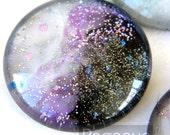 Purple Nova  round Glass opal Cabochon (3 Piece,6 size options) Fantasy jewel gem for wedding,cosplay,elven costume,steampunk jewelry