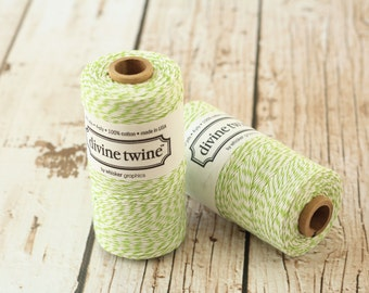 240yds SPOOL Green APPLE Divine Twine 4-ply cotton bakers twine string