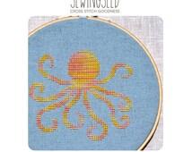 Octopus Cross Stitch Pattern Instant Download