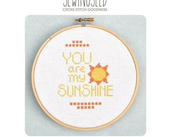 You Are My Sunshine Cross Stitch Pattern Instant Download
