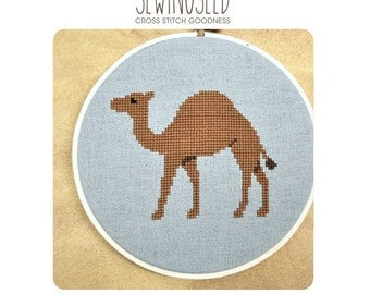 Camel Cross Stitch Pattern Instant Download