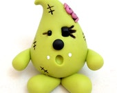 Zombie PARKER Figurine - Polymer Clay Whimsical Character Figure