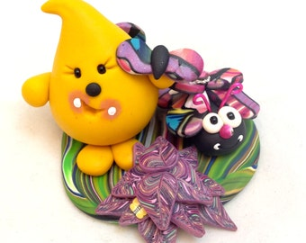 Parker Bug Series - Polymer Clay Character StoryBook Scene - Figurine 3 - Limited Edition Sculpture