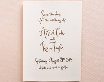 All Calligraphy Save The Date Stamp