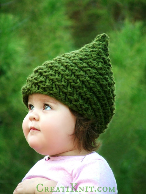Knitting Pattern Baby Gnome Hat Pattern Sizes