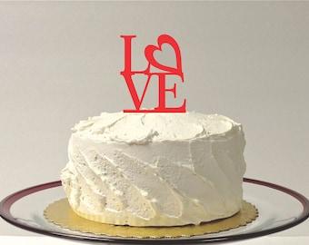 Wedding Cake Topper LOVE Wedding Topper Classic Acrylic Wedding Cake Topper Wedding Decoration Keepsake