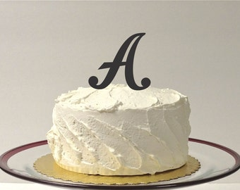 MONOGRAM INITIAL A - Wedding Cake Topper  Personalized Monogrammed Wedding Cake Topper Custom Cake Topper Any Letter