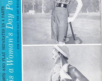 1950s Halter Shirt Romper Pants Sportswear - Vintage Pattern Woman's Day 5033 - B32