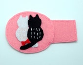 Handmade fun lazy eye patch, felt eye patch, fabric eye patch, Non-Adhesive - Cat lover (b)
