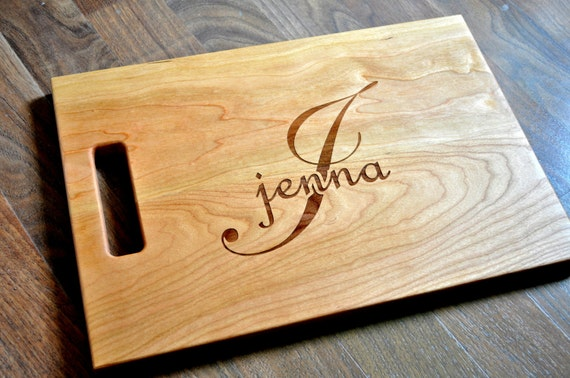 Personalized Cutting Board Chopping Block Laser Engraved 11x15 Monogram Cutting Board CBJ1115