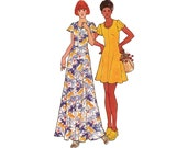 1970s Fit and Flare Boho Stretch Knit Dress Pattern Butterick 3578 Vintage Paper Pattern Size 11/12 Young Junior / Teen Bust 32 inches