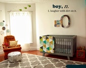 Boy Noun Wall Decal - Boys room wall decal - kids playroom decal by 3rd Ave Shore - Removable Home Decor Handmade in Kailua Hawaii 8
