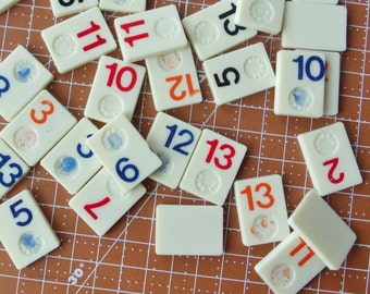 Vintage Mini Rummikub Tiles 20 tiles
