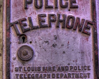Police photography, Police telephone, Fireman, St. Louis photo, Vintage Police telephone, Vintage cops, vintage phone, St. Louis Missouri