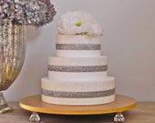 """Gold Cake Stand 20"""" Wedding Bling Gold Cake Topper Wedding Rustic Event Decor By E. Isabella Designs. As Featured In Martha Stewart Weddings"""