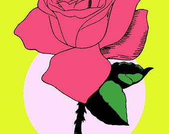 La Rosa Loteria Mexican Pop Art Print
