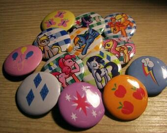 My Little Pony Button Set