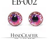 1 pairs - 12mm Handmade glass eyes Monster Eyes EB-002 NO WASHER