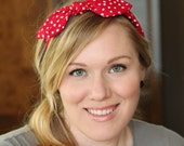 Rosie the Riveter, Red Rockabilly Bow Headband