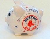 Piggy Bank Boston Red Sox Baseball Personalized