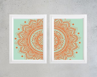 Poster Wall Art  Collection Set of (2)  (UNFRAMED)