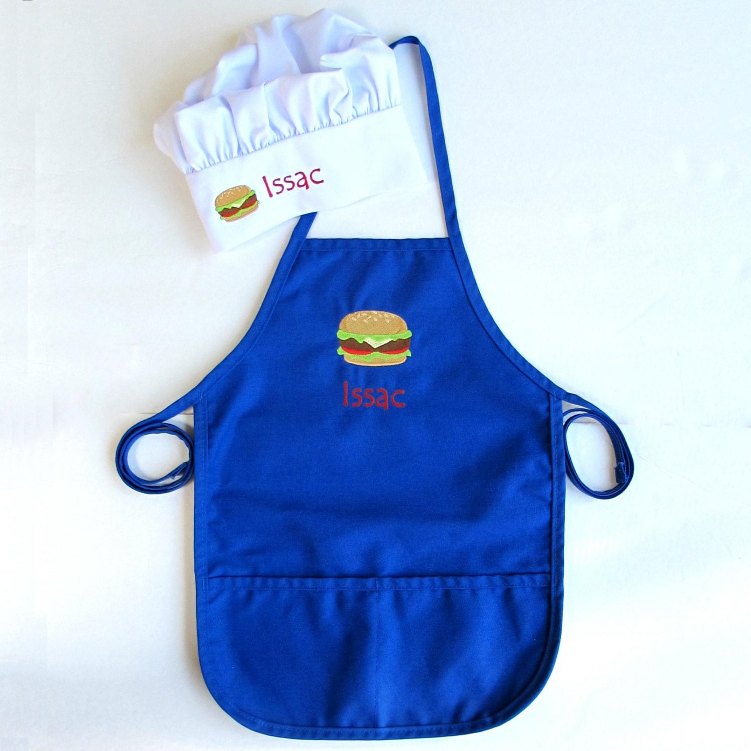 kids personalized apron and chef hat for grilling boy 39 s. Black Bedroom Furniture Sets. Home Design Ideas