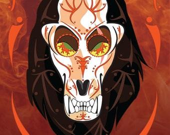 Scar Disney Villain Sugar Skull 11x14 Print