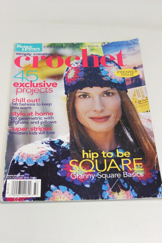 Creative Crochet Magazine : Simply Creative Crochet Magazine Back Issue by CrystalFernVtg