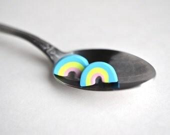 Rainbow Marshmallow Earrings
