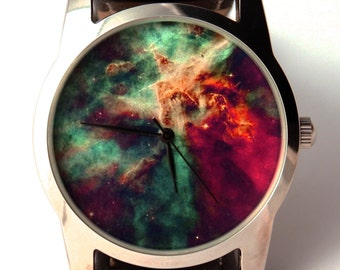 Watch  wrist watch Nebula Hubble space photo, unisex watch, women watch, men wrist watch