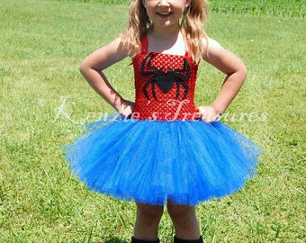 Spider Woman Tutu Dress ~ Size 2T to Girl's Size 6