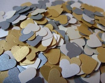 Paper hearts, 1000 die cut hearts, die cuts, paper heart punches, wedding confetti, scrapbooking, weddings, party