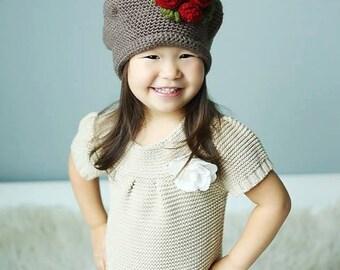 Crochet PATTERN Rosey Posey Hat
