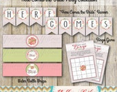 Here Comes the Bride Party Collection - INSTANT DOWNLOAD / Bridal Shower / Wedding Shower / Banner / Food Tent / Advice Card